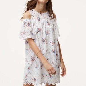Loft White Eyelet Dress